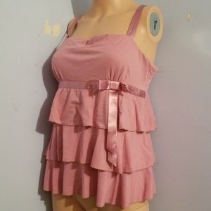 🎃🍭 5 for $25 🍭 CUTE PINK RUFFLED TOP